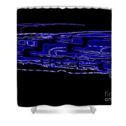 Compartmental Blues Shower Curtain