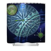 Compass 2 Shower Curtain