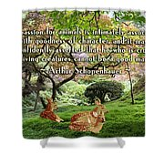 Compassion And Goodness Shower Curtain