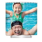 Competitive Swimming Classes Shower Curtain