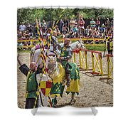 Competitors' Salutations Shower Curtain