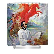 Composer Felix Mendelssohn Shower Curtain
