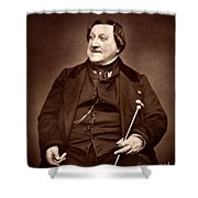 Composer Rossini Shower Curtain
