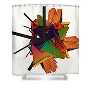Composition 002 Shower Curtain