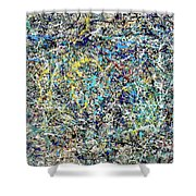 Composition #17 Shower Curtain