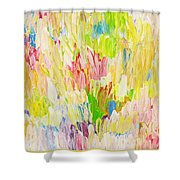 Composition Spring Shower Curtain