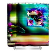 Computer Bugs Series 2 Of 7 Shower Curtain