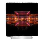 Computer Generated 3d Abstract Fractal Flame Modern Art Shower Curtain