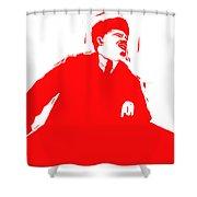 Comrade L Shower Curtain