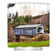 Comstock Bridge Montgomery Shower Curtain