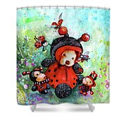 Comtessine Coccinella De Lafontaine Shower Curtain