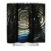 Concentric Glass Prisms Shower Curtain