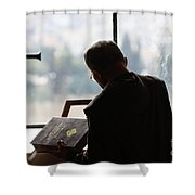 conceptual image of Christianity  Shower Curtain