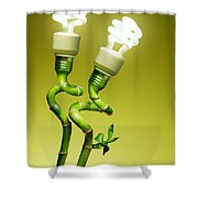 Conceptual lamps Shower Curtain by Carlos Caetano
