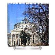 concert hall in Bucharest, Romania Shower Curtain