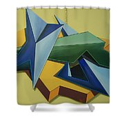 Concezione Volumetrica 3 Shower Curtain