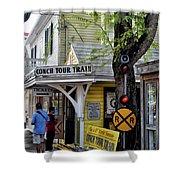 Conch Tour Train Stop Shower Curtain