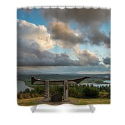 Comcomly's Concrete Canoe Shower Curtain