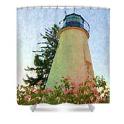 Concord Point Lighthouse Shower Curtain