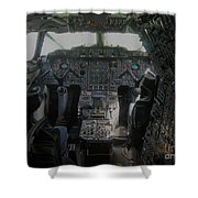 Concorde Cockpit Shower Curtain