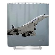 Concorde Landing Shower Curtain