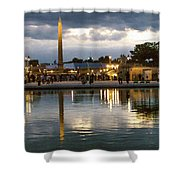 Concorde Paris Silhouettes Shower Curtain