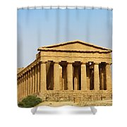 Concordia Temple In Agrigento, Sicily, Italy Shower Curtain