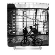 Concrete And Glass Shower Curtain