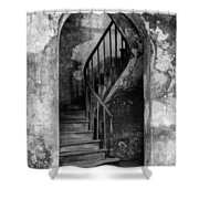 Concrete And Stairwell Shower Curtain