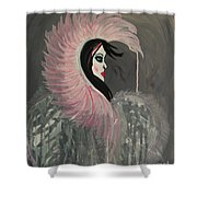 Concrete Angel Shower Curtain
