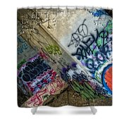 Concrete Art Shower Curtain