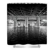 Concrete Bridge Shower Curtain