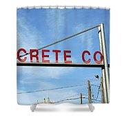 Concrete Company Shower Curtain