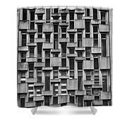 Concrete Geometry  Shower Curtain
