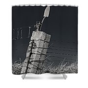 Concrete Post No 1 7257 Shower Curtain