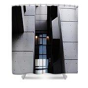 Concrete Shapes - Leeds Shower Curtain