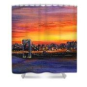 Concrete Sunset Shower Curtain