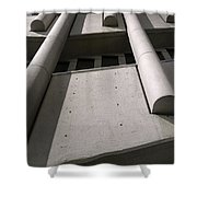Concrete Upwards Shower Curtain
