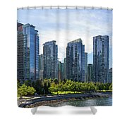 Condominium Waterfront Living In Vancouver Bc Shower Curtain