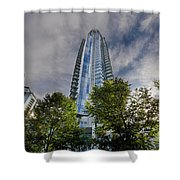 Condominiums Along Waterfront In Vancouver Bc Shower Curtain