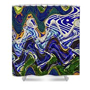Condos On The Beach Abstract Shower Curtain