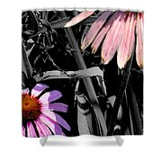 Cone Flower Tapestry Shower Curtain