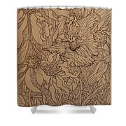 Cone Flowers And Daylily Shower Curtain