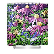 Coneflowers In Gentle Wind Shower Curtain