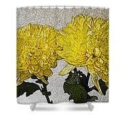 Conversations In The Flower Garden Shower Curtain