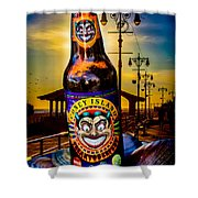 Coney Island Beer Shower Curtain