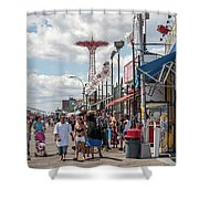 Coney Island Boardwalk II Shower Curtain