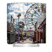 Coney Island Boardwalk IIi Shower Curtain
