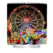 Coney Island Magic In Neon Shower Curtain