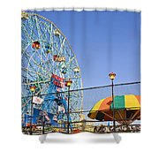 Coney Island Memories 6 Shower Curtain